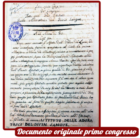 Documento originale primo congresso